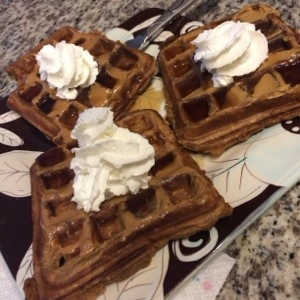 Easy Chocolate Pumpkin Waffles