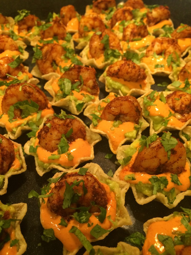 Healthy Super Bowl Appetizer: Shrimp Tostada Bites
