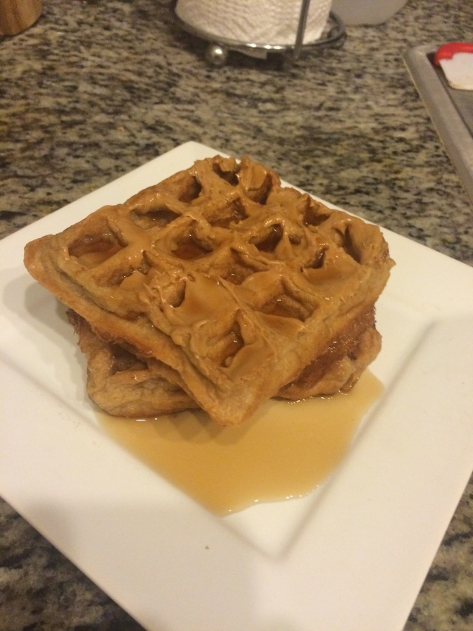 4-Ingredient Peanut Butter Protein Waffles
